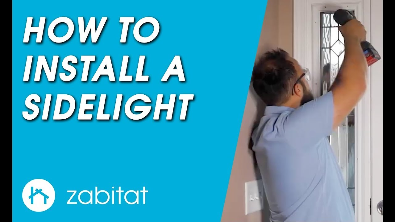 How To Replace A Door Sidelight Door Glass Insert Youtube