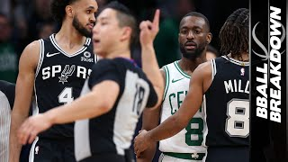 Celtics Lose To Spurs When Refs Freak Out On Kemba: NBA Highlights