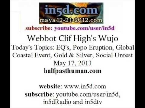 Webbot Clif High: EQ's, Popo Eruption, Global Coastal Event, No Fear