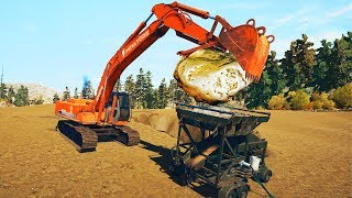 Using Heavy Machinery To Dig Pay Dirt in Gold Rush The Game