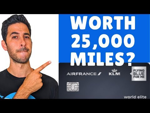 Air France KLM Credit Card Review | 25,000 Air France Miles