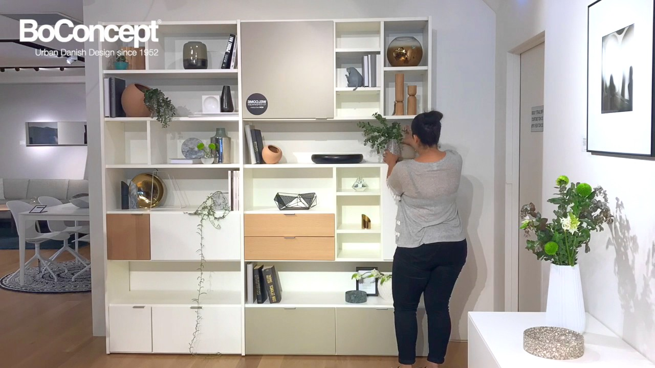 modern wall unit how to style your bookcase interior. Black Bedroom Furniture Sets. Home Design Ideas