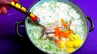 Вкусный сырный  суп. Вся семья подсела на него.