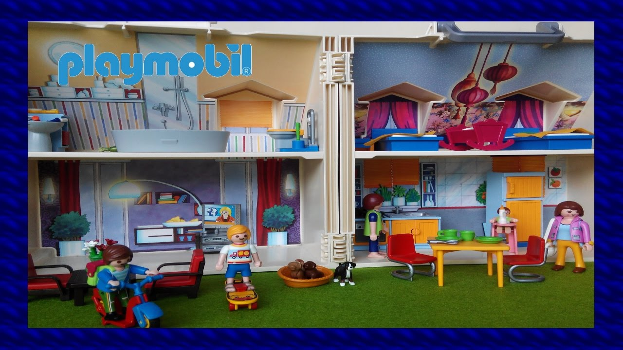 Los playmobil viven aqui casa de playmobil for Casa moderna de lujo playmobil