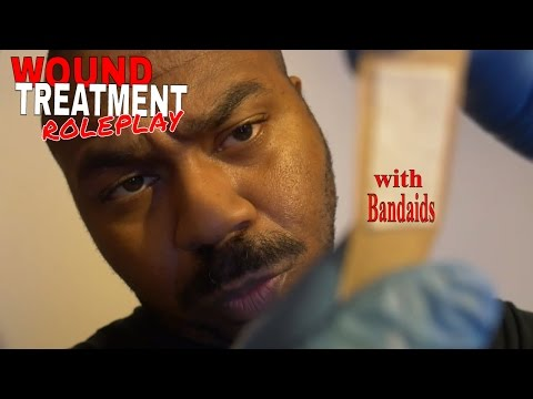 ASMR Wound Treatment Roleplay | ASMR Wound Cleaning & Wound Care with Bandaids & Personal Attention