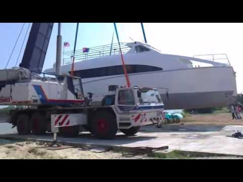 Marlin Marine Muar Johore , Malaysia  Part 1   Catamaran Ferry