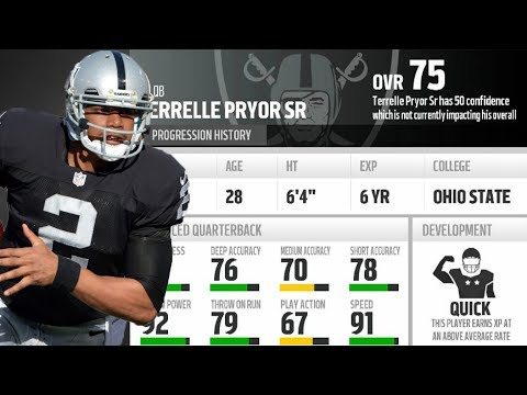 What If Terrelle Pryor Was Still Quarterback For The Oakland Raiders!? Madden 18 What If/Experiment