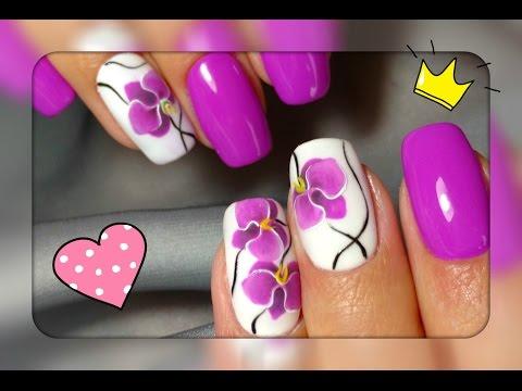 Орхидея на ногтях фото