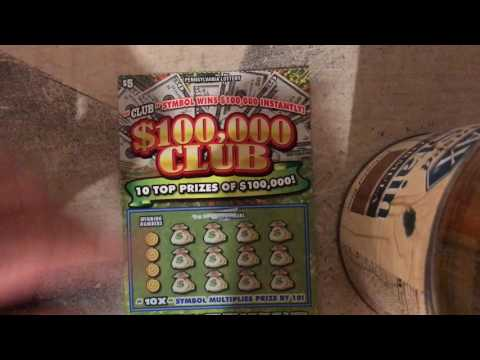 $100,000 CLUB!!! NEW PA LOTTERY SCRATCH OFF TICKET!!!