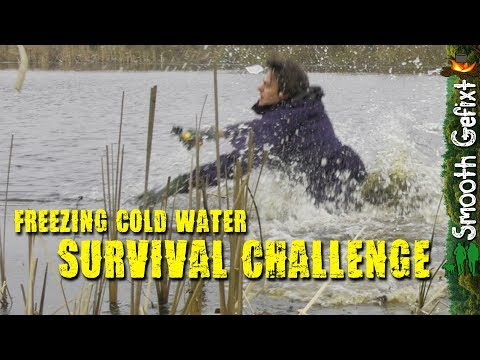 Surviving Hypothermia: into Freezing Cold Water ~ making a FIRE | Survival Challenge