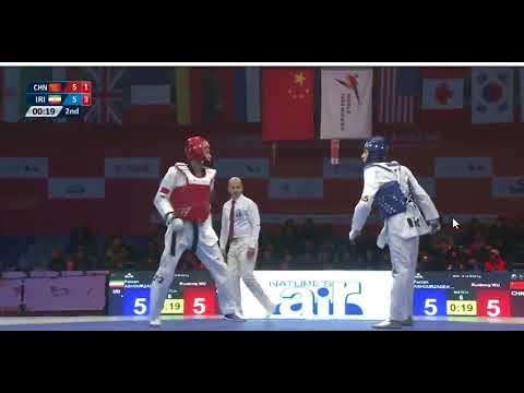 Wuxi 2018 World Taekwondo Grand Slam -58kg Farzan ASHOURZADEH(IRI) vs Ruidong WU(CHN)