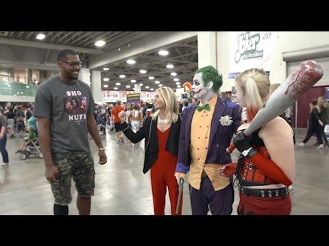 Derrick Favors at Comic Con