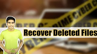 How to recover deleted Files from Windows Pendrive DvD   Hindi  