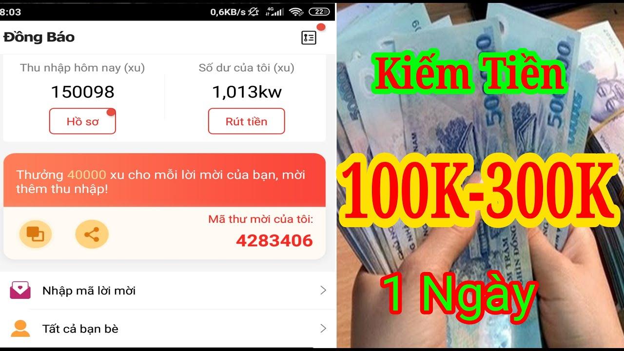 Kiếm Tiền Từ 100K Đến 300K Mỗi Ngày Với APP Đọc Báo Này