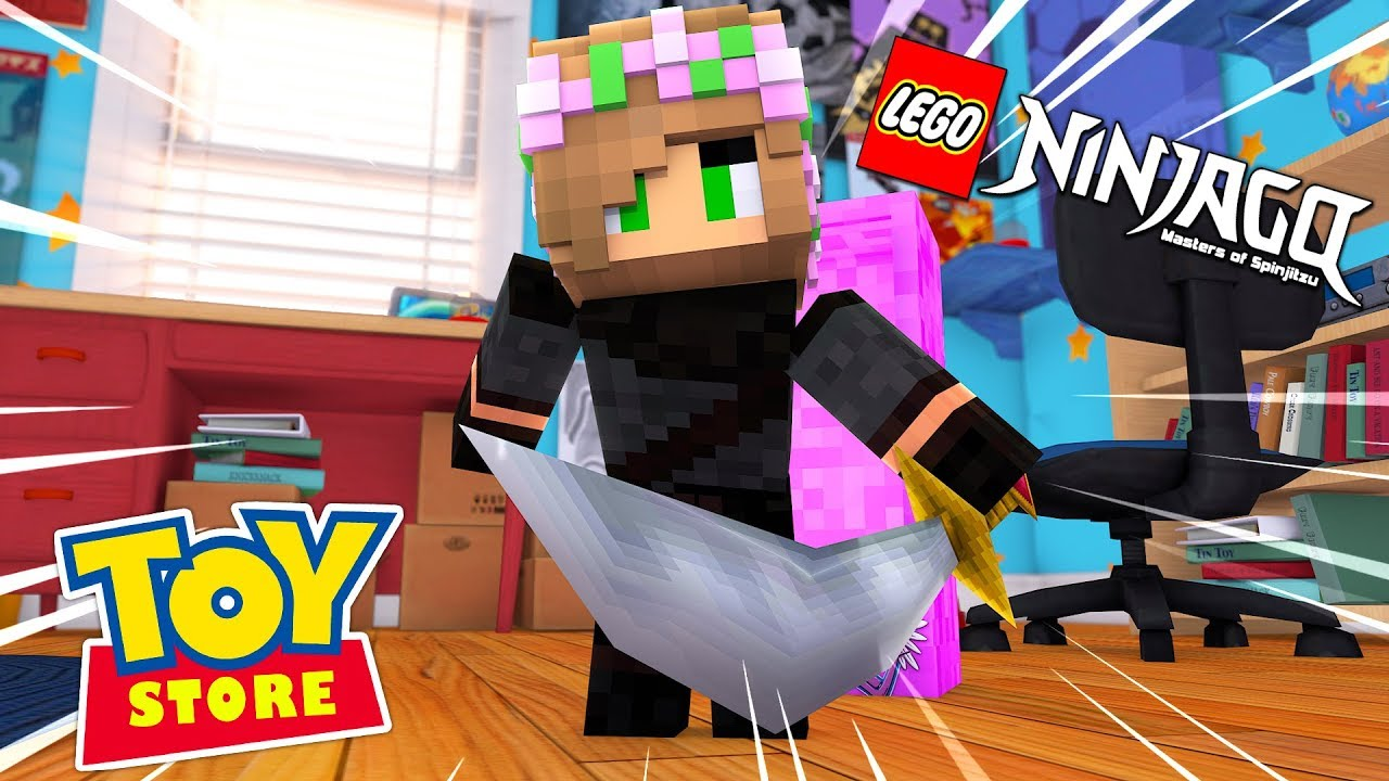 LITTLE KELLY BECOMES A LEGO NINJAGO! Minecraft Toystore