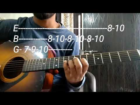 INTRO's - 5 Famous Songs Easiest Intro For beginners - leads/tabs Guitar lesson In Hindi