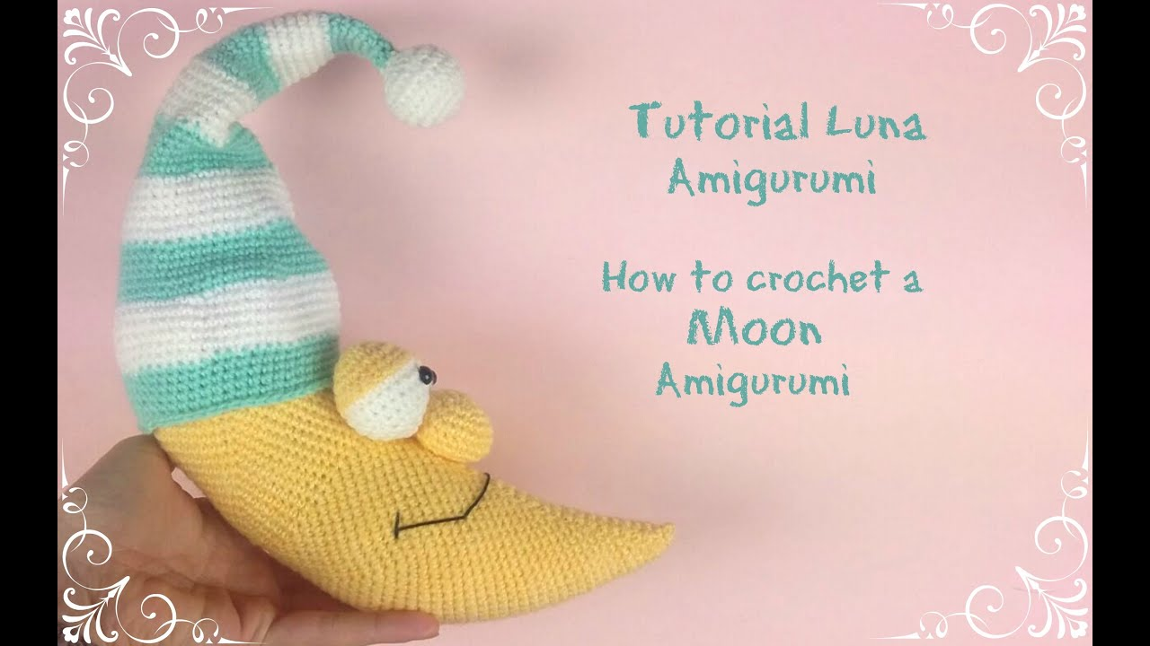 Amigurumi Schemi Italiano Gratis : Luna amigurumi how to crochet a moon amigurumi youtube