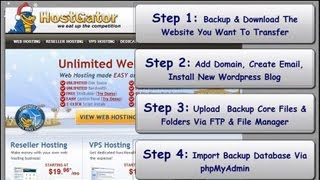 How To Move A Wordpress Site To Hostgator Or New Host - Transfer A Website(Learn how to transfer a wordpress website to Hostgator. If you've ever wanted to move a site to a new host and it's a wordpress website, this video is going to ..., 2012-12-15T05:37:29.000Z)