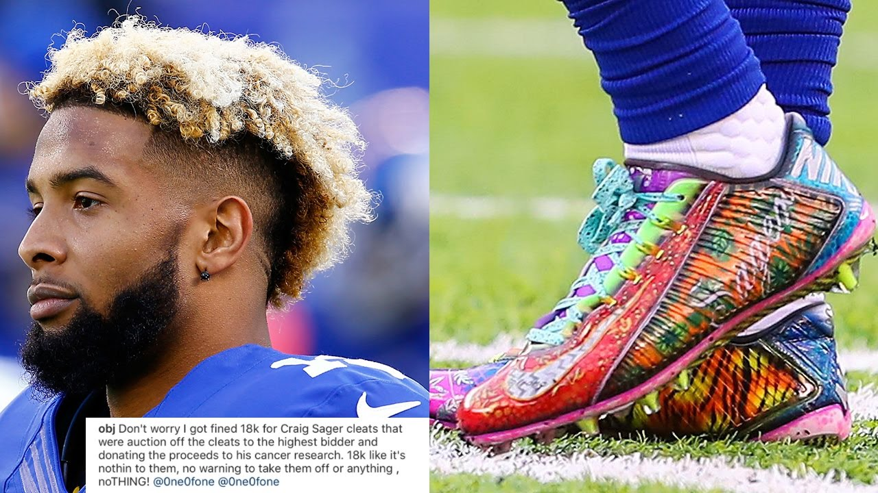 WTF?! Odell Beckham Jr FINED $18,000 by NFL for Wearing Custom Craig ...