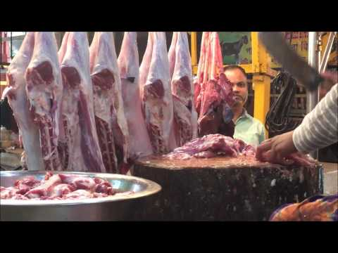 Goat Meat Market  Mutton Chopping By Goat Butcher In Bangladeshi Meat Market