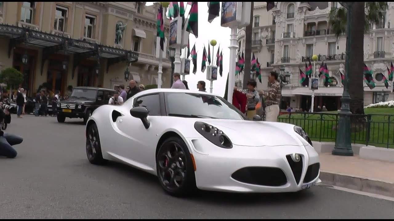 alfa romeo 4c 8c 8c competizione start ups accelerations driving in monaco youtube. Black Bedroom Furniture Sets. Home Design Ideas