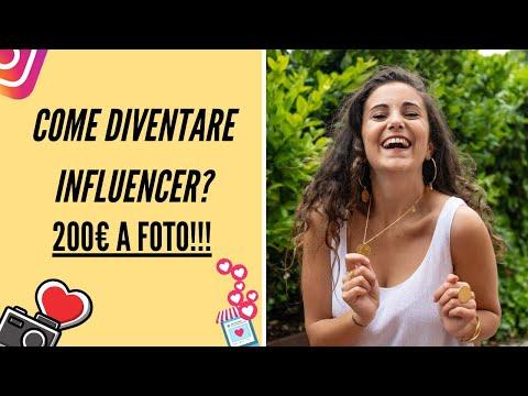 Come diventare INFLUENCER: 200€ A FOTO su INSTAGRAM!