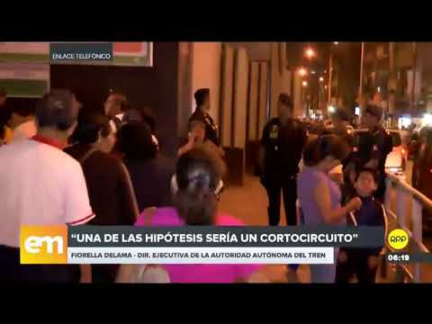 El servicio del Metro de Lima permanecerá restringido por falla eléctrica