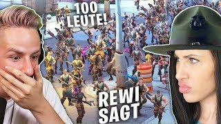 REKORD: REWI sagt mit 100 FORTNITE Spielern!