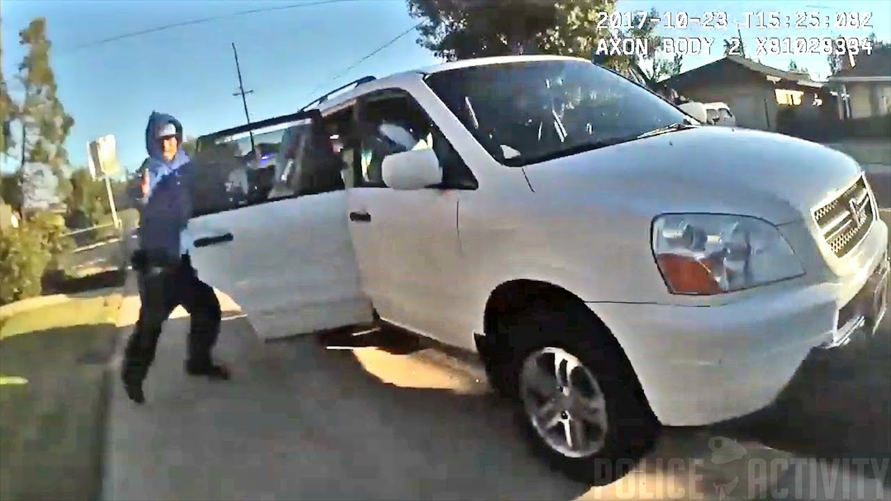 Bodycam Footage of Officer Shooting Armed Suspect in Lodi, California