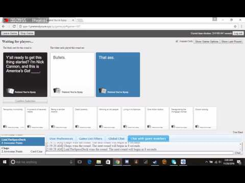 Cards against Humanity #01 Chili's welcome!