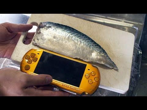 PSPと鯖の押し寿司奇跡のコラボレーション | Sushi that used PSP