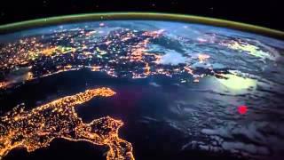 قمر صناعي يصور اوروبا ومصر وبروق الشام