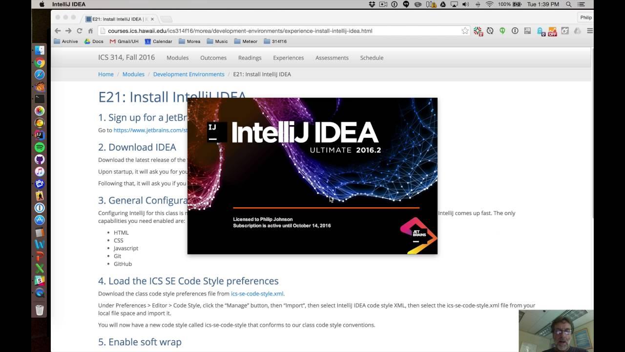 E21: Install IntelliJ IDEA | ICS 314, Fall 2017