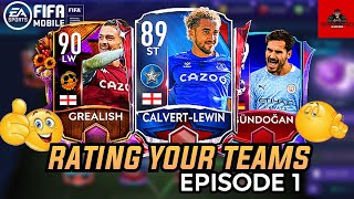 RATING YOUR TEAMS - EPISODE 1 | SUGGESTING THE BEST IMPROVEMENTS | FIFA MOBILE 21