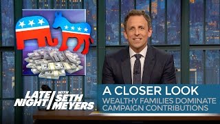 A Closer Look: Wealthy Families Dominate Campaign Contributions - Late Night with Seth Meyers