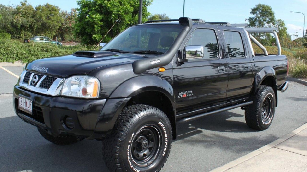 2012 nissan navara d22 s5 st r black 5 speed manual