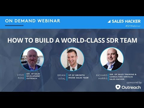 How to Build a World-Class SDR Team