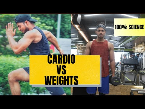 What is Fastest Way For (Weight loss/Fat loss) Cardio Or Weights?   Science Explained