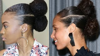 Alicia Keys Inspired Natural Hair Updo