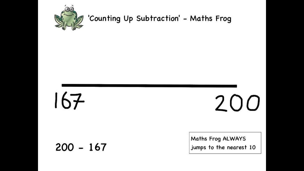 Y3 How To Subtract Using Maths Frog Youtube