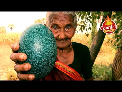 Thumbnail: Emu Egg Fry || Healthy Emu Egg Recipe By 106 Years Old Granny
