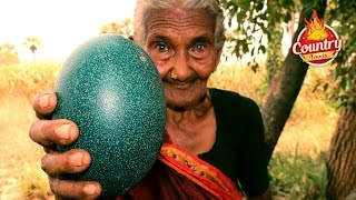 Emu Egg Fry || Healthy Emu Egg Recipe By 106 Years Old Granny