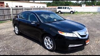 2010 Acura TL 3.5 FWD Walkaround, Start up, Tour and Overview