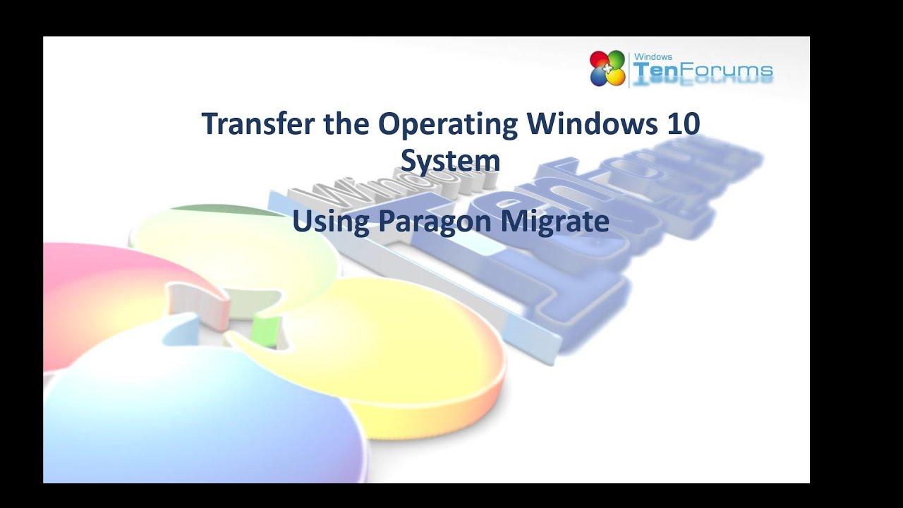 paragon hard drive migration