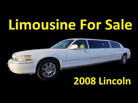 2008 LINCOLN LIMOUSINE FOR SALE ~ TOWN CAR LIMO VIDEO REVIEW