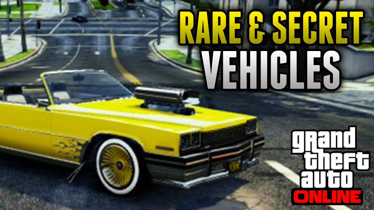 GTA 5 Rare Cars - 12 Rare & Secret Vehicles on GTA 5 Online (Rare ...