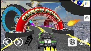 Ramp Car Stunts Racing Impossible Tracks simulator - Android Gameplay Video