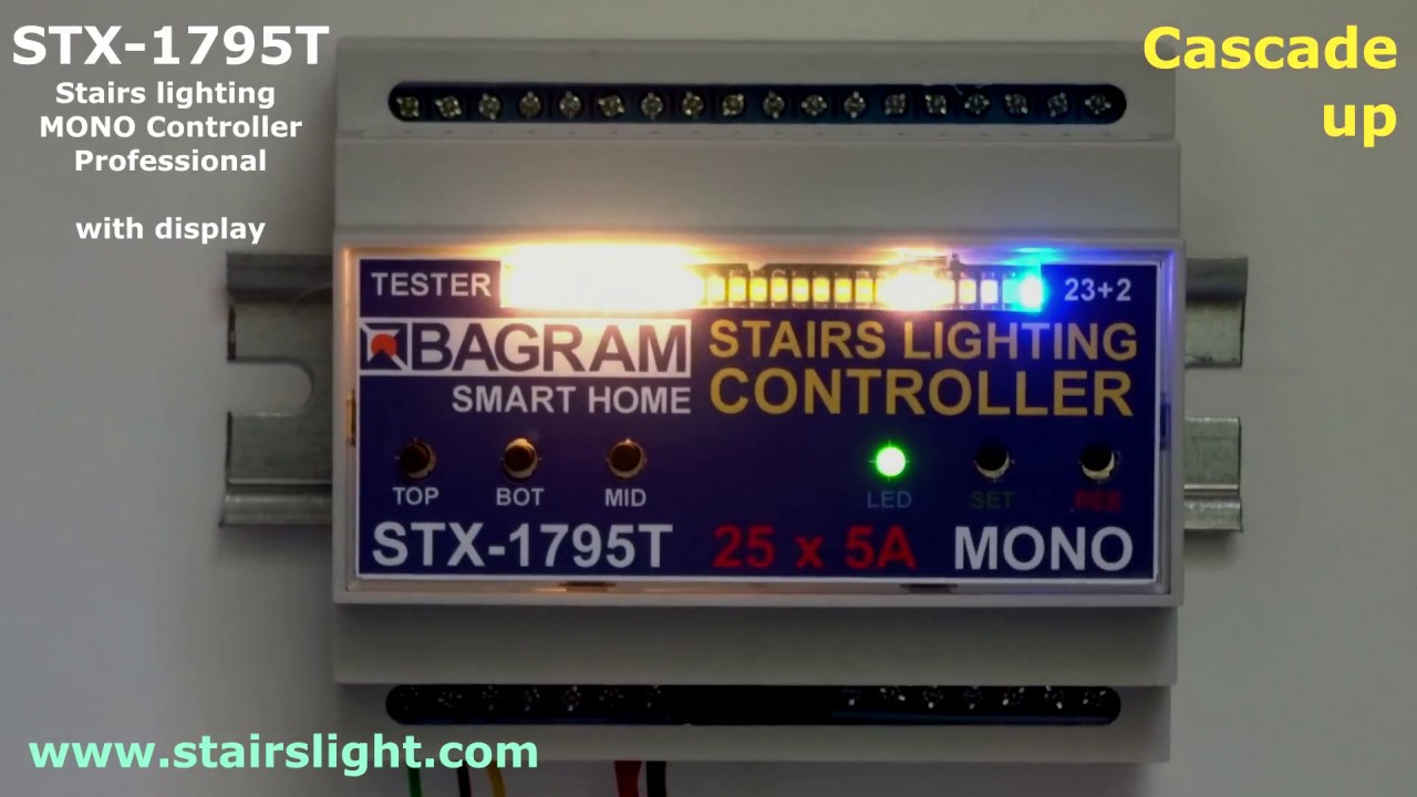 Stairs Lighting MONO Controller STX 1795 With Display