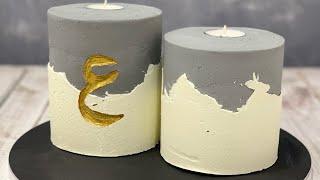 Candle / Concrete Cake Tutorial