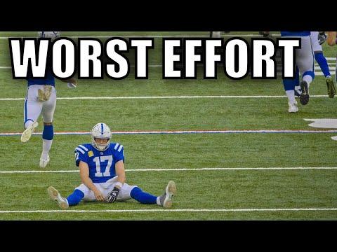"[Lowlights] The NFL's ""Worst Effort"" Plays"